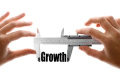 Measuring growth Royalty Free Stock Images