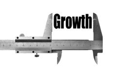 Measuring growth Royalty Free Stock Image