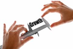 Measuring growth Royalty Free Stock Photos