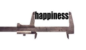 Measuring happiness Royalty Free Stock Photography