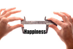 Measuring happiness Royalty Free Stock Photo