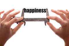 Measuring happiness Royalty Free Stock Photos