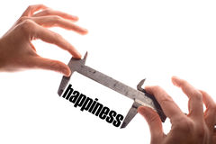Measuring happiness Royalty Free Stock Image