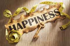 Measuring happiness concept Stock Photos
