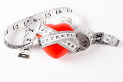 Measuring heart Royalty Free Stock Image