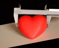 Measuring the heart, if its possible ? Royalty Free Stock Image