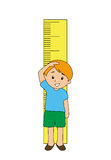 Measuring Height Royalty Free Stock Images