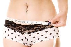 Measuring hips Royalty Free Stock Image