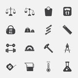 Measuring icons set.vectorillustration. Royalty Free Stock Image