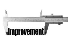 Measuring improvement Stock Photography