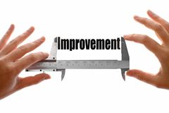 Measuring improvement Stock Images