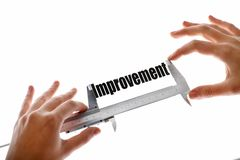 Measuring improvement Royalty Free Stock Photos