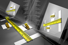 Measuring instrument. Digital illustration of measuring instrument in digital background Royalty Free Stock Images