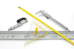 Measuring instruments. Picture of 5 measuring instruments Royalty Free Stock Photo