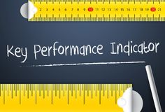 Measuring key performance indicator. Various way of measurement of the key performance indicator or kpi of business plan, company. Or employee. Represent by royalty free stock photography