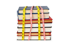 Measuring the knowledge - concept Royalty Free Stock Images