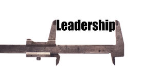 Measuring leadership Stock Image