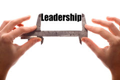 Measuring leadership Royalty Free Stock Photo