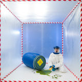 Measuring level of contamination Stock Photo