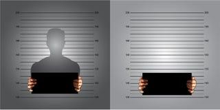 Measuring lines mugshot Royalty Free Stock Image