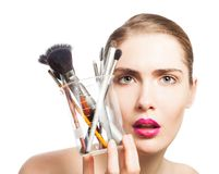 Measuring makeup science Royalty Free Stock Images