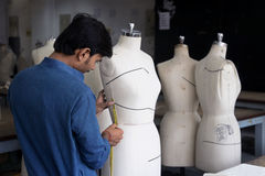 Measuring Mannequin. A NIFt student measuring mannequin on the occasion of Fashion Olympiad organised by National Institute of Fashion Technology at NIFT campus Stock Image