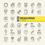 Measuring, Measure Elements Web Icon Set - Outline Icon Set Royalty Free Stock Image
