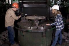 Measuring metal Stock Photo
