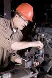 Measuring metal post Royalty Free Stock Image