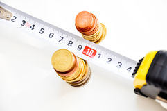 Measuring money growth Royalty Free Stock Image