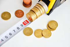 Measuring money growth. By setting key performance indicators Stock Photos
