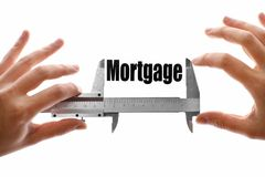 Measuring Mortgage Royalty Free Stock Images