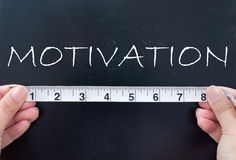 Measuring motivation Royalty Free Stock Photography