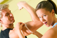 Measuring muscles Stock Images