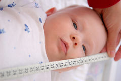Measuring Of A Baby Royalty Free Stock Photo