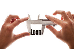 Measuring out loan Royalty Free Stock Photo