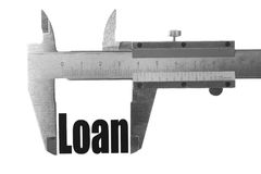 Measuring out loan Stock Photography