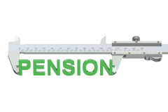 Measuring pension concept Royalty Free Stock Photography
