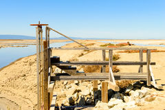 Measuring platform in slat mines Stock Photos