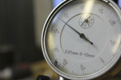 Measuring precision instruments instrument dial indicator Stock Photo