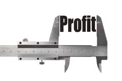 Measuring profit Stock Photo