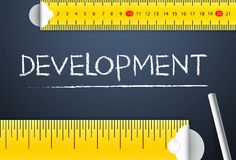 Measuring project development. Various way of measuring country human development index either its from management side or from. Business angle. Represent in royalty free stock image