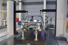 Measuring quality in a large automobile factory Royalty Free Stock Image