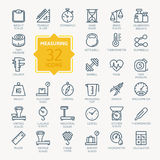 Measuring Related Icon Set. Vector Illustration Royalty Free Stock Images