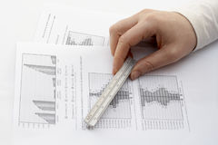 Measuring report Royalty Free Stock Photo