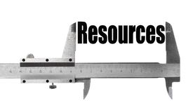 Measuring resources Royalty Free Stock Photo