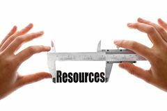 Measuring resources Royalty Free Stock Images