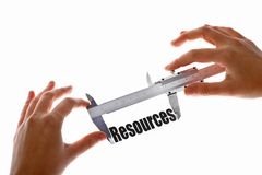 Measuring resources Stock Image