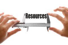 Measuring resources Stock Images