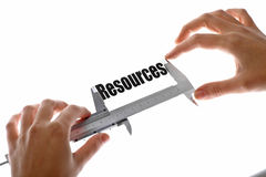 Measuring resources Royalty Free Stock Photos